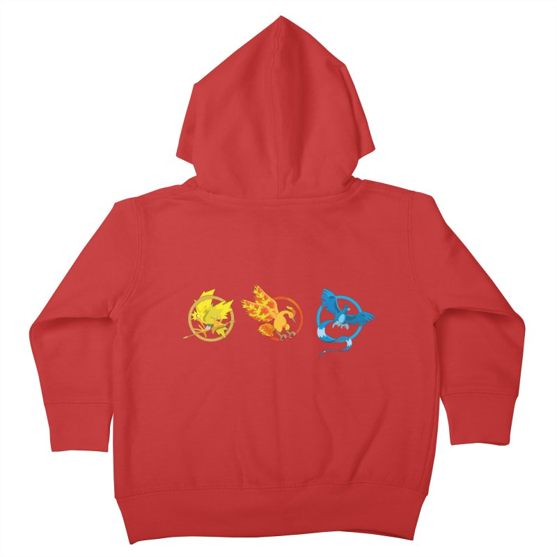 Hunger Games Catching Pokemon  Kids Toddler Zip-Up Hoody by VarieTeez Designs
