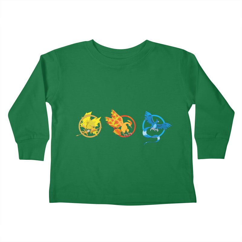 Hunger Games Catching Pokemon  Kids Toddler Longsleeve T-Shirt by VarieTeez Designs