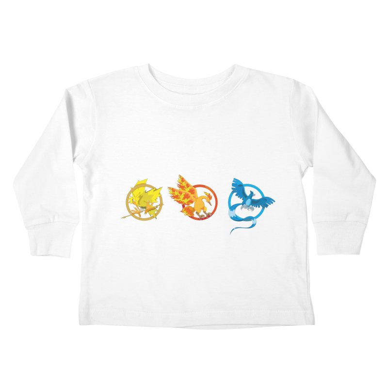 Hunger Games Catching Pokemon  Kids Toddler Longsleeve T-Shirt by VarieTeez Designs