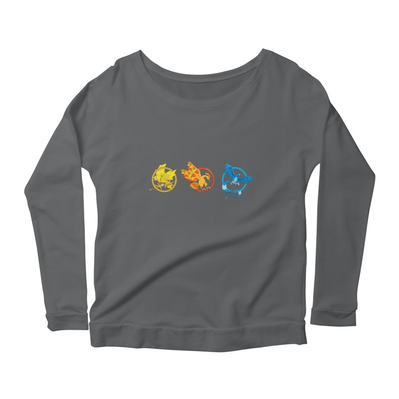 Hunger Games Catching Pokemon  Women's Longsleeve Scoopneck  by VarieTeez's Artist Shop