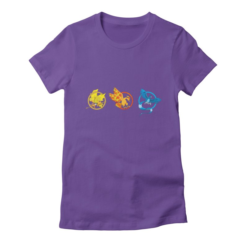 Hunger Games Catching Pokemon  Women's Fitted T-Shirt by VarieTeez Designs