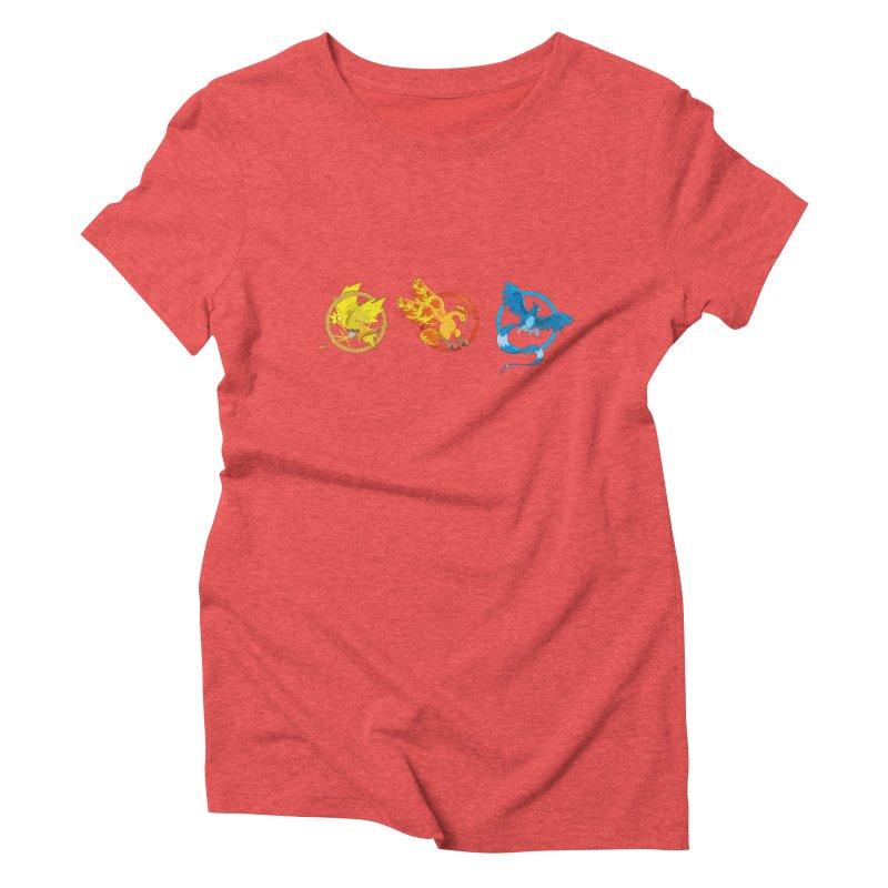 Hunger Games Catching Pokemon  Women's Triblend T-Shirt by VarieTeez Designs