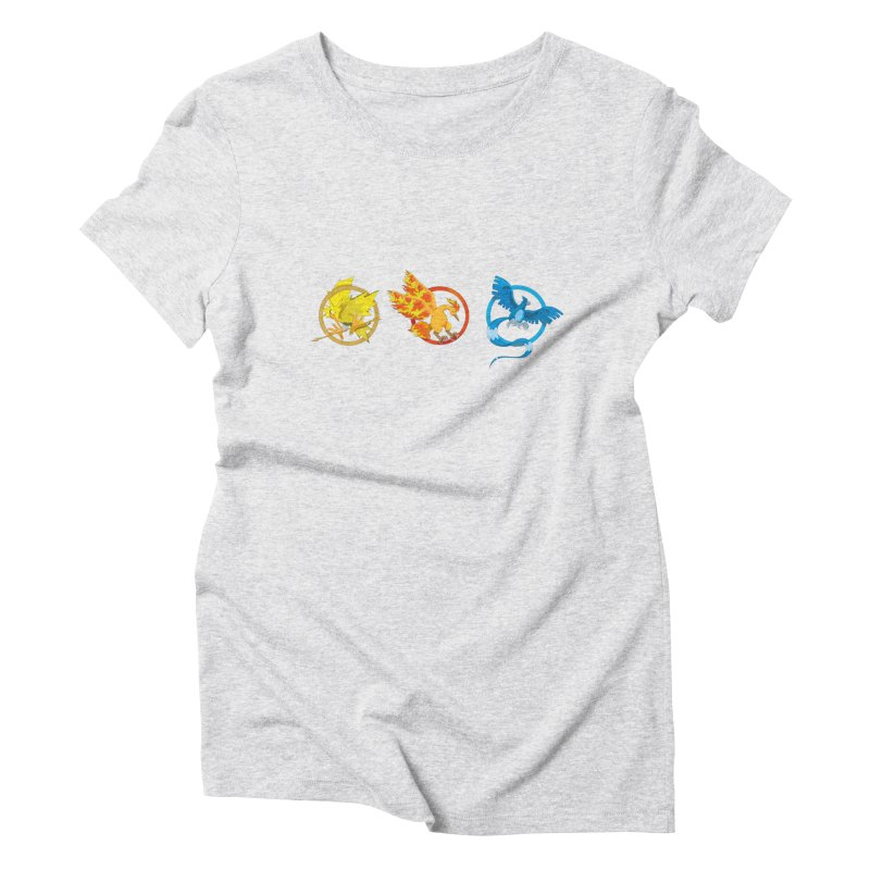 Hunger Games Catching Pokemon  Women's Triblend T-Shirt by VarieTeez Designs