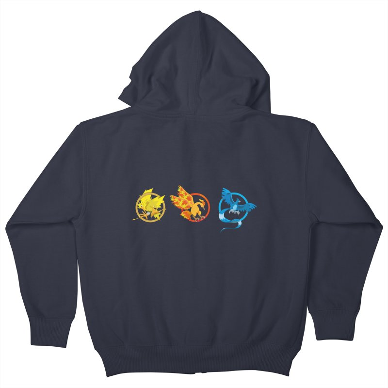 Hunger Games Catching Pokemon  Kids Zip-Up Hoody by VarieTeez's Artist Shop