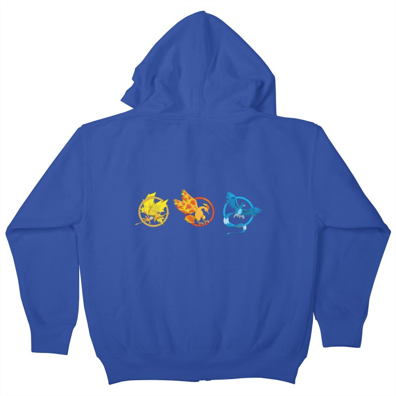 Hunger Games Catching Pokemon  Kids Zip-Up Hoody by VarieTeez Designs