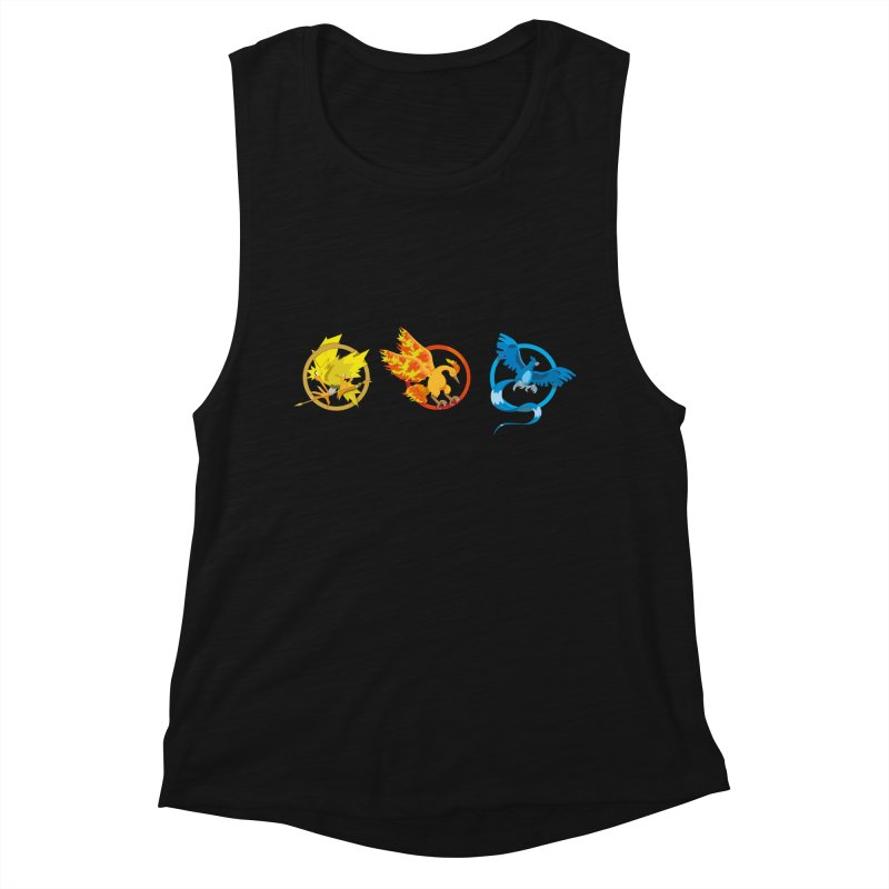 Hunger Games Catching Pokemon  Women's Muscle Tank by VarieTeez Designs