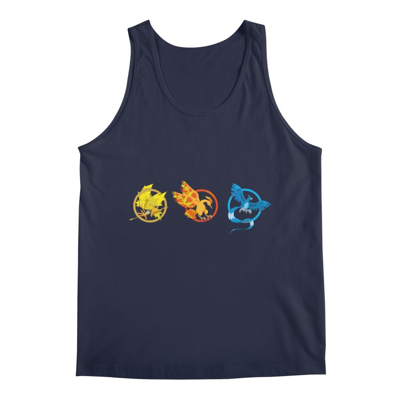 Hunger Games Catching Pokemon  Men's Regular Tank by VarieTeez Designs