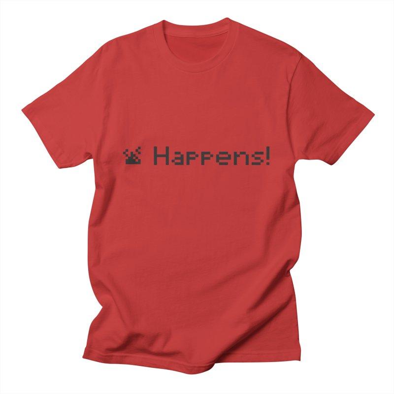 Shit happens! Men's T-Shirt by VarieTeez Designs