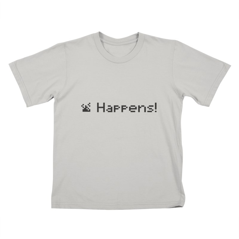 Shit happens! Kids T-shirt by VarieTeez Designs