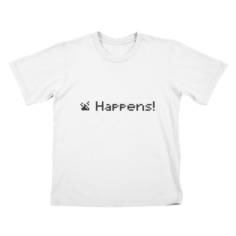 Shit happens! Kids T-shirt by VarieTeez Designs
