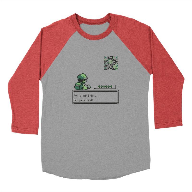 Wild animal appeared! Men's Longsleeve T-Shirt by VarieTeez Designs