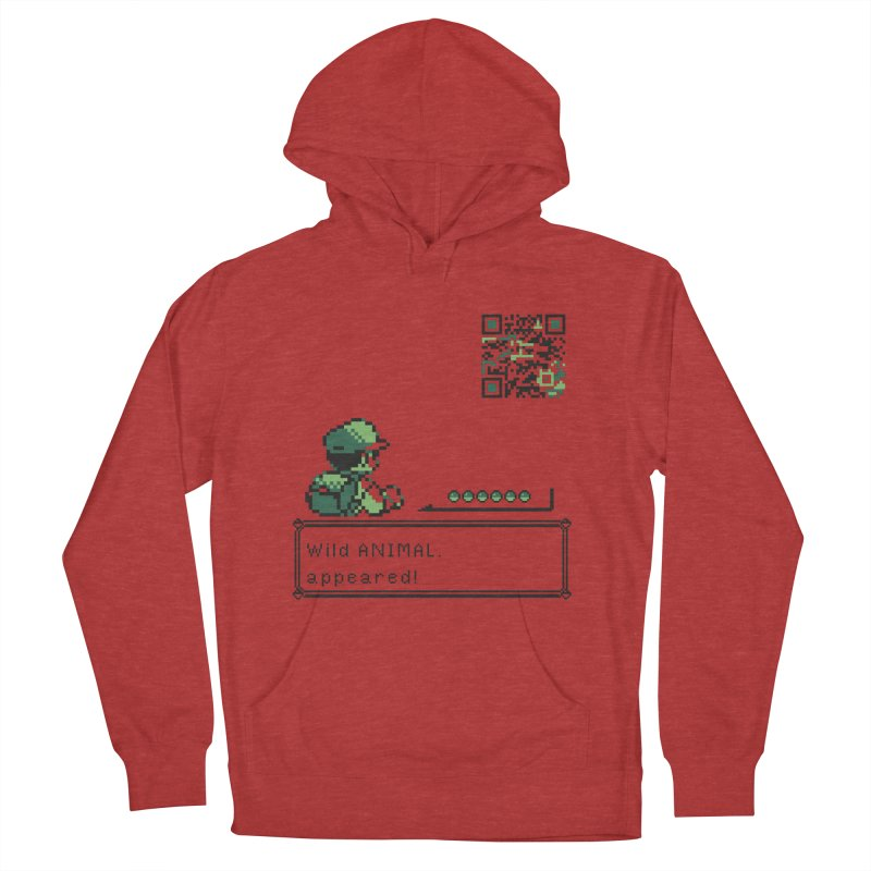 Wild animal appeared! Men's French Terry Pullover Hoody by VarieTeez Designs