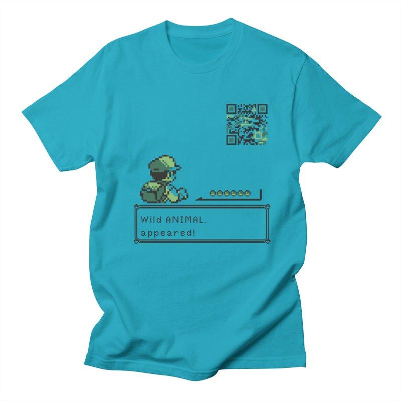 Wild animal appeared! Men's Regular T-Shirt by VarieTeez Designs