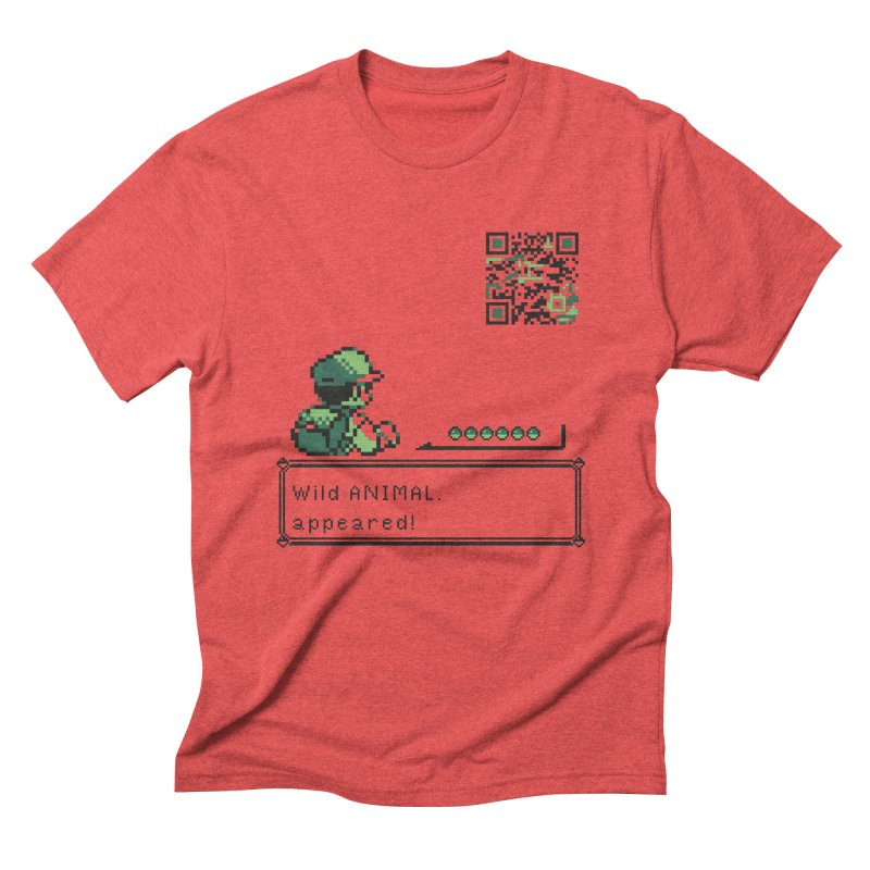 Wild animal appeared! Men's Triblend T-Shirt by VarieTeez Designs