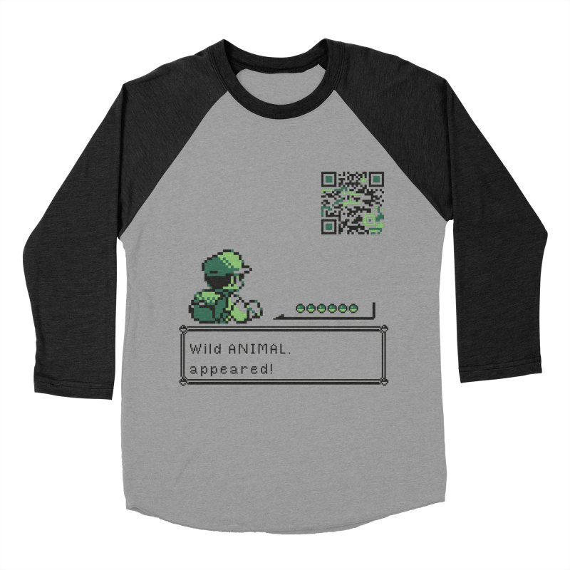 Wild animal appeared! Men's Baseball Triblend Longsleeve T-Shirt by VarieTeez Designs