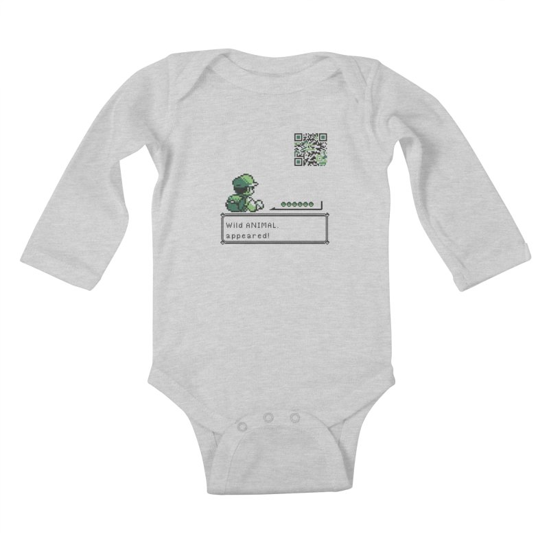 Wild animal appeared! Kids Baby Longsleeve Bodysuit by VarieTeez Designs