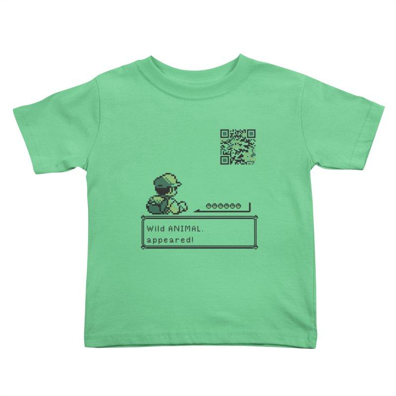 Wild animal appeared! Kids Toddler T-Shirt by VarieTeez's Artist Shop