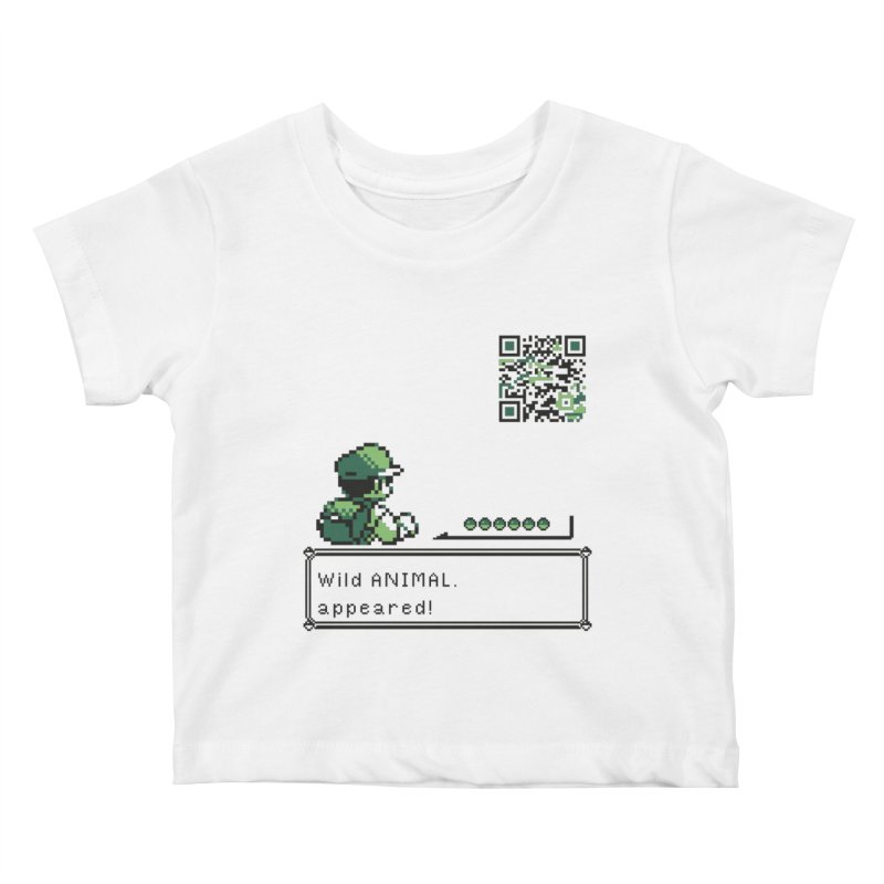 Wild animal appeared! Kids Baby T-Shirt by VarieTeez Designs