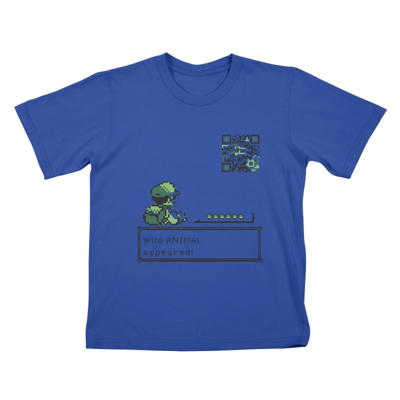 Wild animal appeared! Kids T-Shirt by VarieTeez Designs