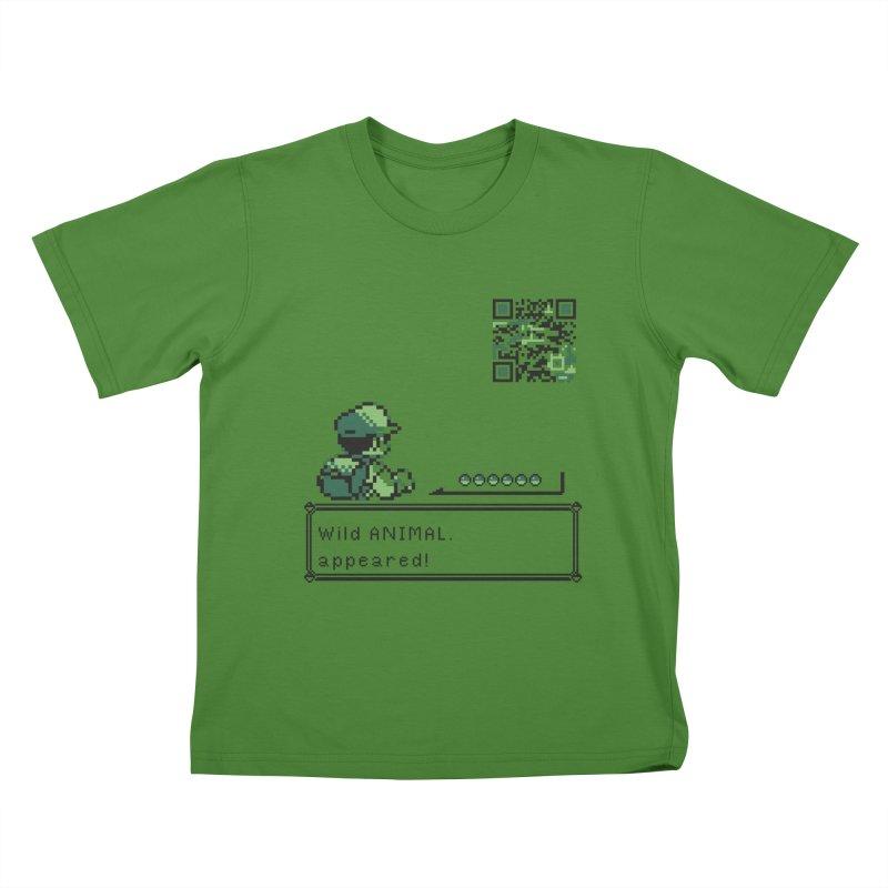 Wild animal appeared! Kids T-shirt by VarieTeez's Artist Shop