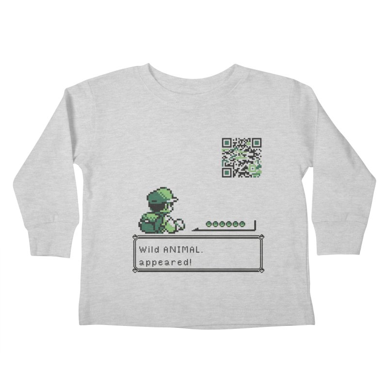 Wild animal appeared! Kids Toddler Longsleeve T-Shirt by VarieTeez Designs