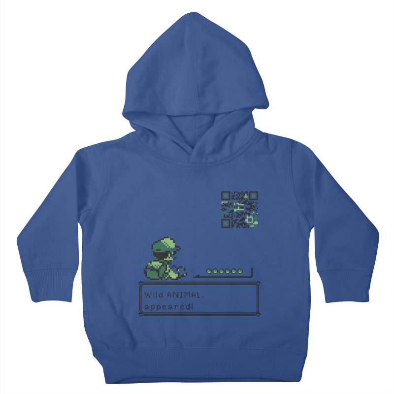 Wild animal appeared! Kids Toddler Pullover Hoody by VarieTeez's Artist Shop