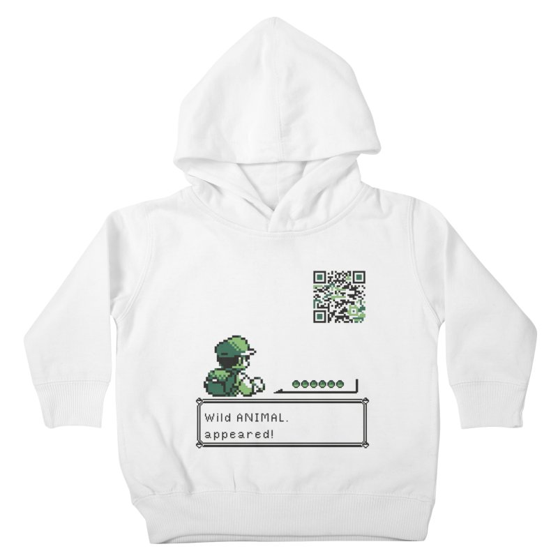 Wild animal appeared! Kids Toddler Pullover Hoody by VarieTeez Designs