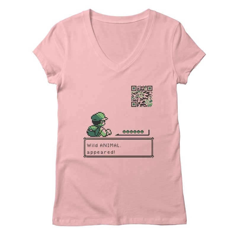 Wild animal appeared! Women's V-Neck by VarieTeez Designs