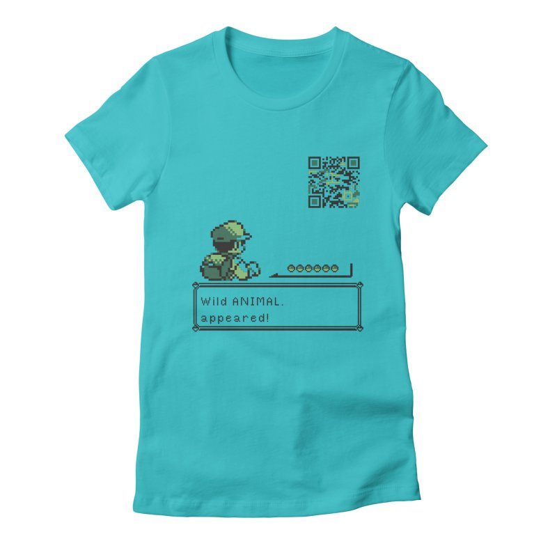 Wild animal appeared! Women's Fitted T-Shirt by VarieTeez Designs