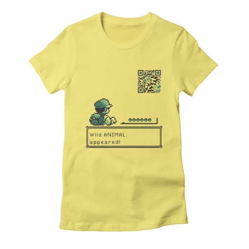 Wild animal appeared! Women's Fitted T-Shirt by VarieTeez's Artist Shop