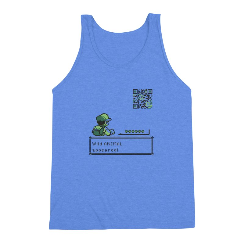 Wild animal appeared! Men's Triblend Tank by VarieTeez Designs