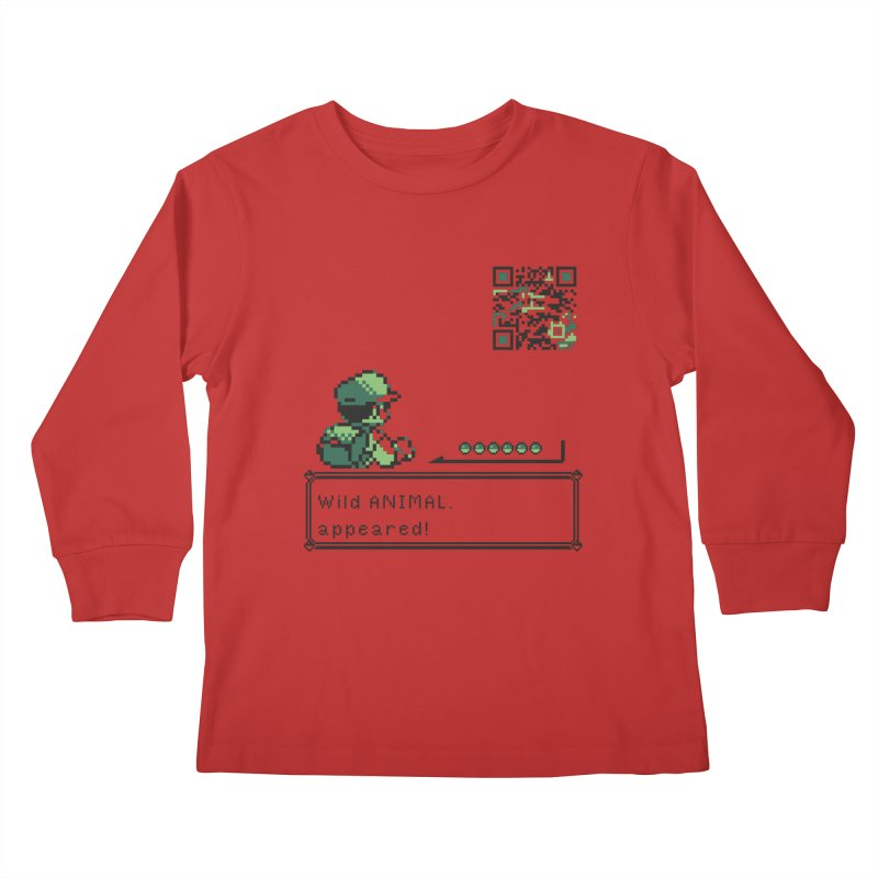 Wild animal appeared! Kids Longsleeve T-Shirt by VarieTeez Designs