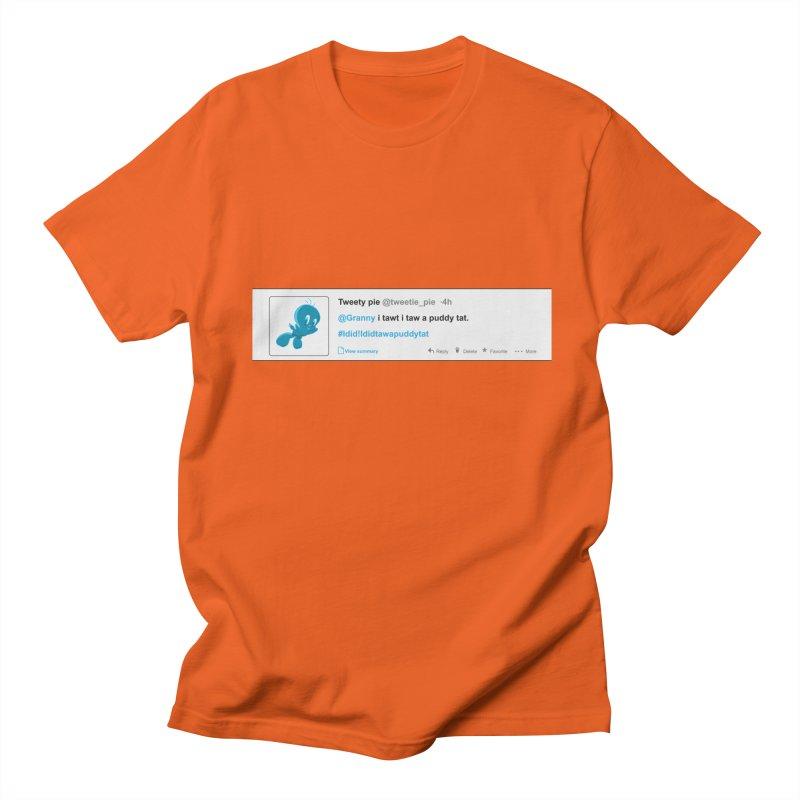 Twitter Pie Men's T-shirt by VarieTeez's Artist Shop
