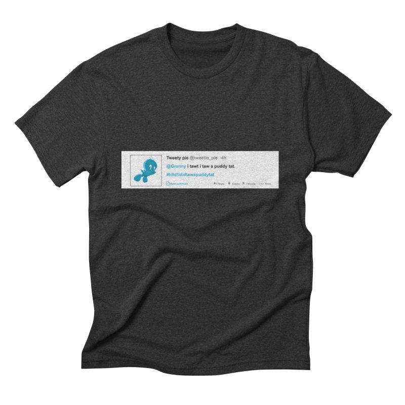 Twitter Pie Men's Triblend T-shirt by VarieTeez Designs