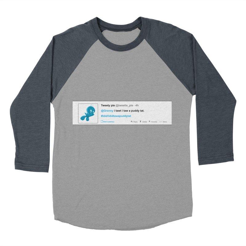 Twitter Pie Women's Baseball Triblend Longsleeve T-Shirt by VarieTeez Designs
