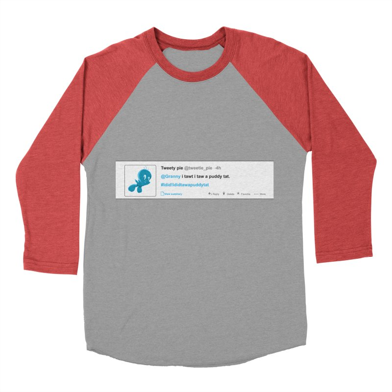Twitter Pie Men's Baseball Triblend T-Shirt by VarieTeez Designs