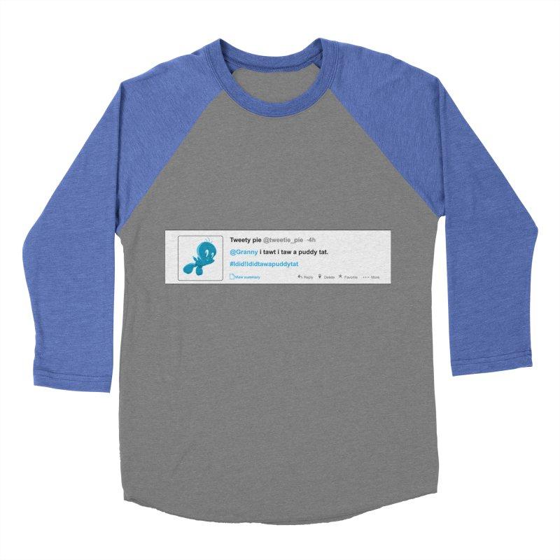Twitter Pie Men's Baseball Triblend Longsleeve T-Shirt by VarieTeez Designs