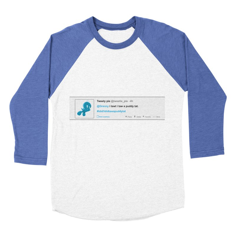 Twitter Pie Men's Baseball Triblend Longsleeve T-Shirt by VarieTeez Designs