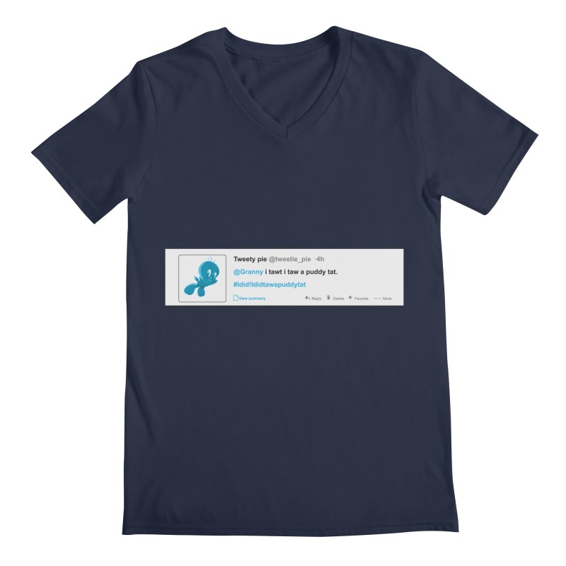 Twitter Pie Men's V-Neck by VarieTeez's Artist Shop