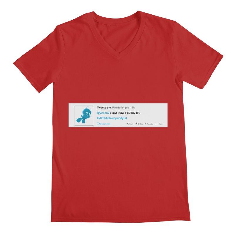 Twitter Pie Men's V-Neck by VarieTeez Designs