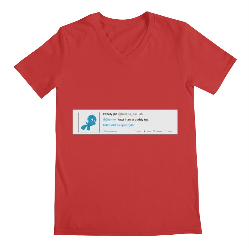 Twitter Pie Men's Regular V-Neck by VarieTeez Designs