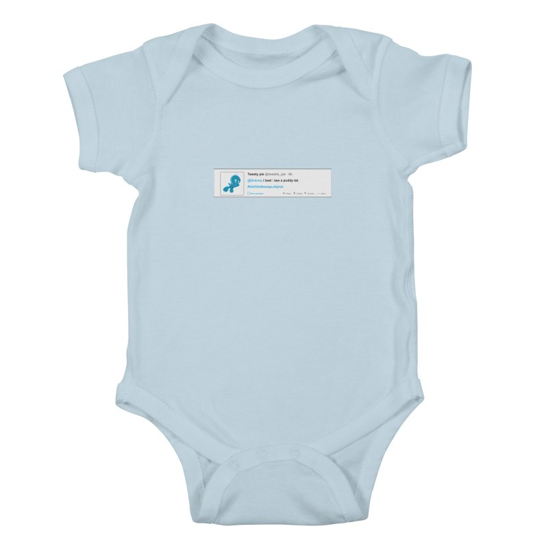 Twitter Pie Kids Baby Bodysuit by VarieTeez Designs