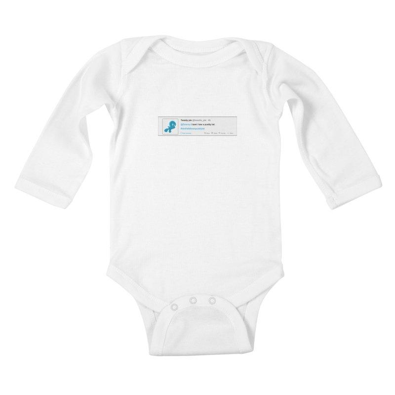 Twitter Pie Kids Baby Longsleeve Bodysuit by VarieTeez Designs