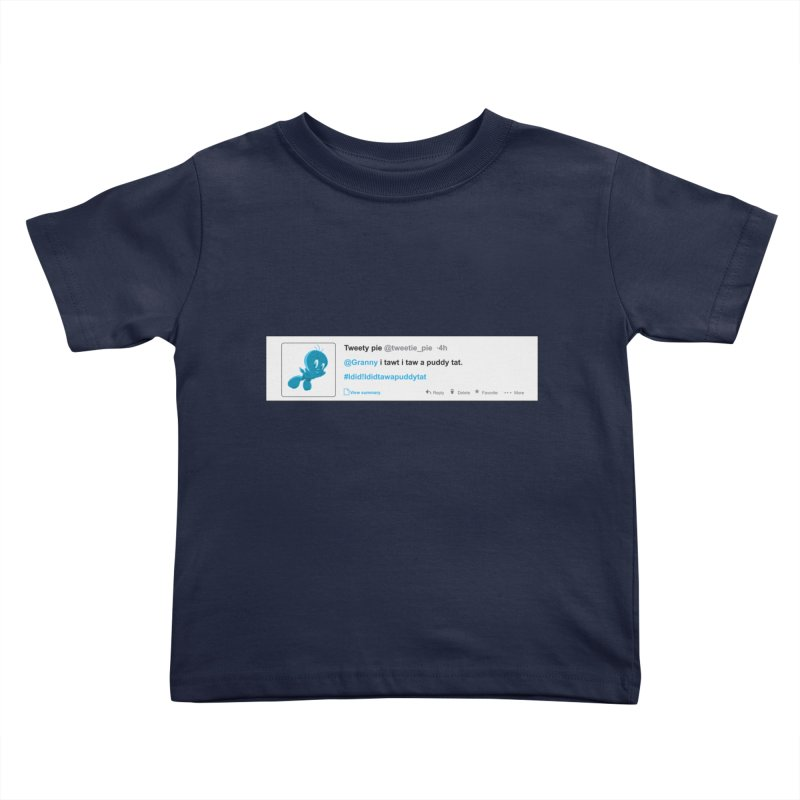 Twitter Pie Kids Toddler T-Shirt by VarieTeez Designs
