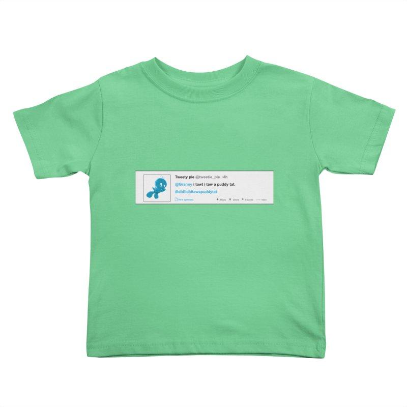 Twitter Pie Kids Toddler T-Shirt by VarieTeez's Artist Shop