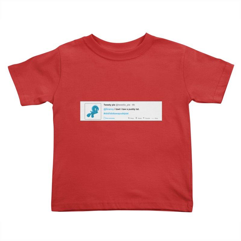 Twitter Pie Kids Toddler T-Shirt by VarieTeez Designs