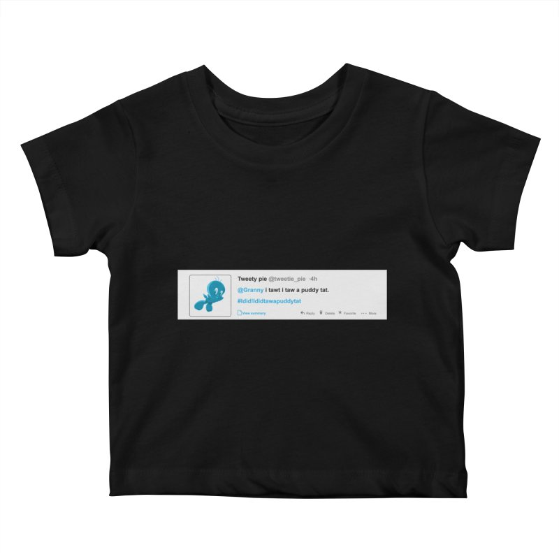 Twitter Pie Kids Baby T-Shirt by VarieTeez Designs