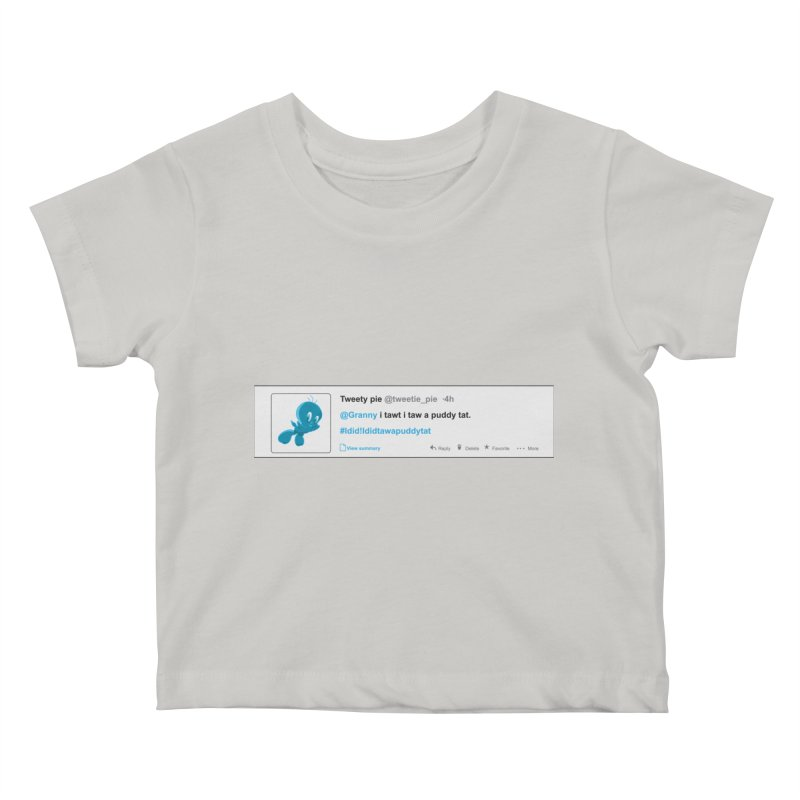 Twitter Pie Kids Baby T-Shirt by VarieTeez Designs