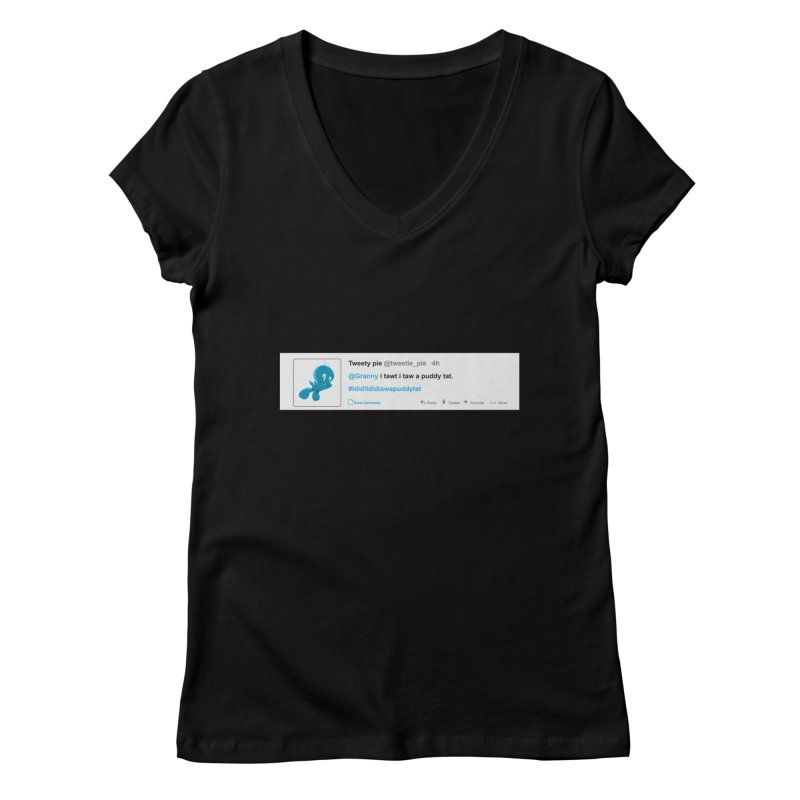 Twitter Pie Women's V-Neck by VarieTeez Designs