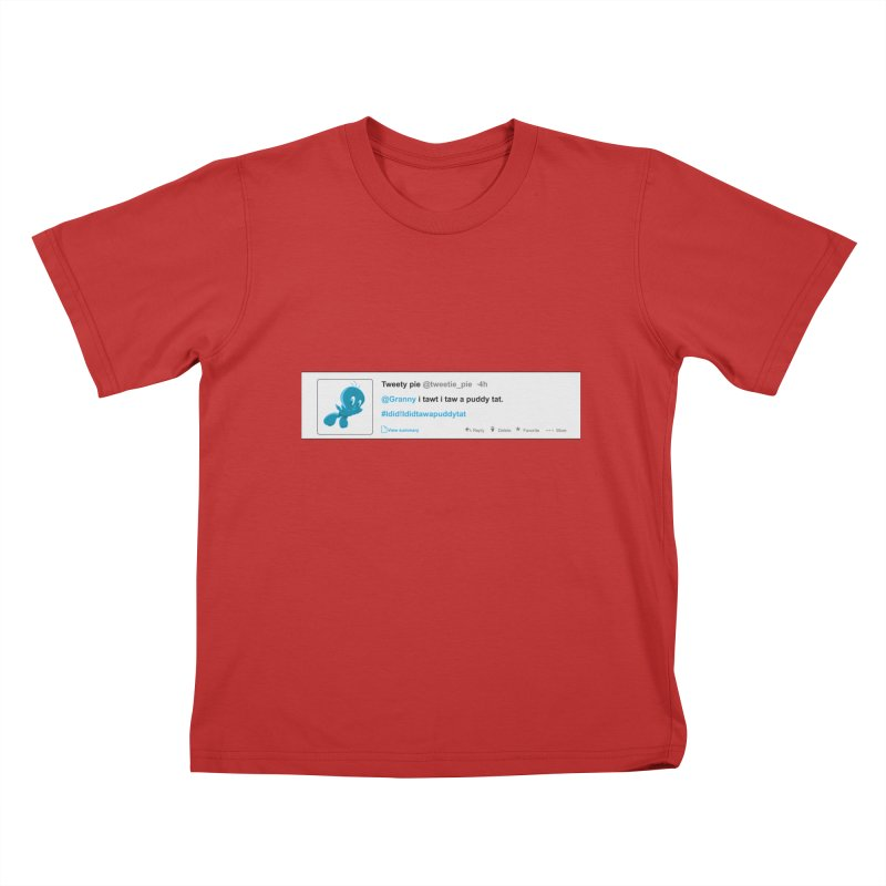 Twitter Pie Kids T-Shirt by VarieTeez Designs